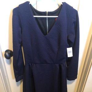 Melissa Masse made to measure navy dress
